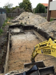 pool site dig out